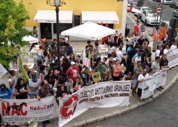 El Colectivo Antitaurino de Aranjuez vuelve a manifestarse en las fiestas