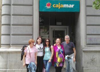Ocupación de la oficina bancaria de Cajamar en la Gran Vía de Granada