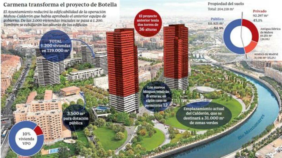 Nuevo Plan Mahou-Calderón: Necesita Mejorar