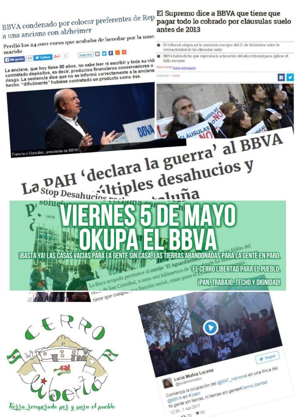 Viernes 5 de mayo: Okupa el BBVA