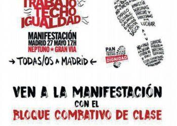El Bloque Combativo de Clase llama a todas las trabajadoras a movilizarse el 27M en Madrid