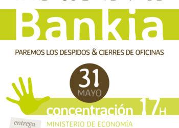 Concentración contra la privatización de Bankia y BMN el próximo 31 de mayo