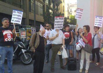 CGT protesta contra la manipulación mediática del grupo PRISA