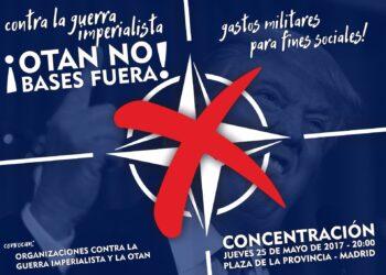 Concentración en Madrid en repulsa por la Cumbre de la OTAN
