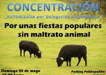 primera concentración antitaurina en la Sierra Norte de Madrid