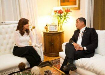 Cristina Fernández de Kirchner recibió a Rafael Correa al concluir visita a Buenos Aires