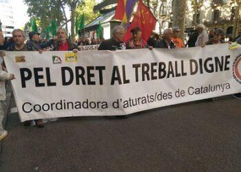La Marxa de la Dignitat es manifesta a Barcelona sota el lema #OrgullDeClasse1M juntes vencerem