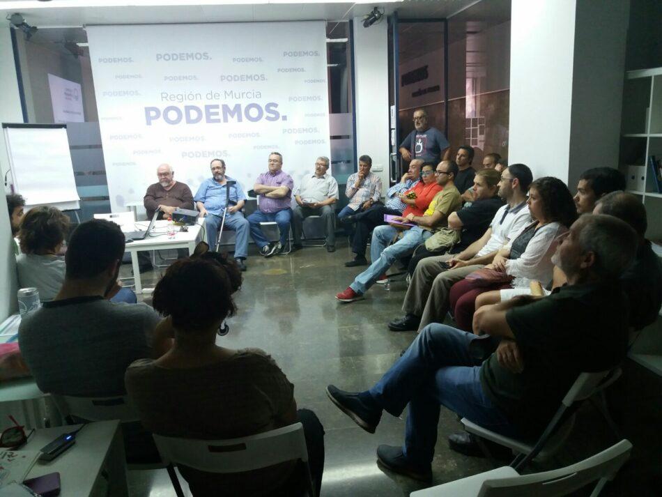 """Podemos en Movimiento apuesta """"por un proceso de confluencia asambleario en el municipio de Murcia"""" de cara a las próximas elecciones"""