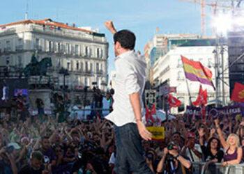 """Garzón llama desde la Puerta del Sol a la """"unidad entre compañeros"""" porque """"basta ya de hablar"""" y la moción de censura es """"la mejor forma de actuar contra este sistema criminal que nos explota"""""""