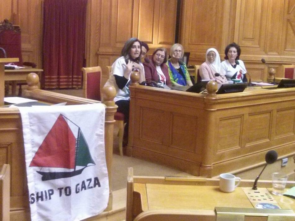 El Parlamento sueco escucha a las mujeres del Barco a Gaza