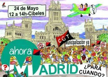 CGT protestará contra el Ayuntamiento de Madrid por la gestión de los servicios de limpieza realizada por las subcontratas