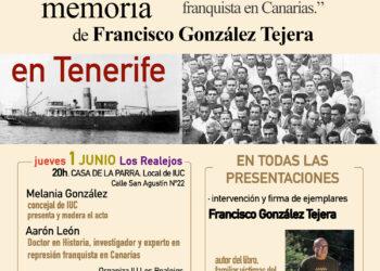 Presentación de «Semilla de Memoria, 122 relatos sobre el genocidio franquista en Canarias», de Francisco González Tejera
