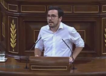 """Garzón denuncia que el Gobierno """"veta el debate para incrementar los ingresos del Estado"""" e impone con Ciudadanos unos Presupuestos con una política fiscal """"injusta e inútil"""""""