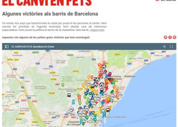 """Barcelona En Comú presenta la campanya """"El canvi en fets"""""""