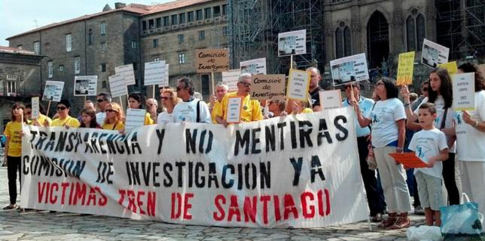 Plataforma Víctimas Alvia 04155: «16 millones de ciudadanos de más de 100 ayuntamientos y Europa exigen una Comisión de Investigación»