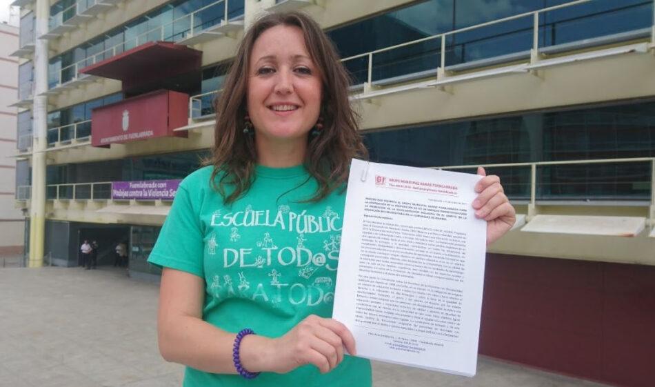 Ganar Fuenlabrada presenta al próximo pleno la ILA por una escolarización inclusiva