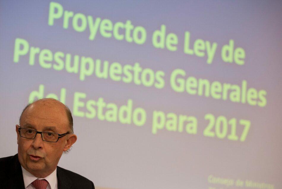 Los PGE 2017 continúan ahondando la pobreza y la desigualdad