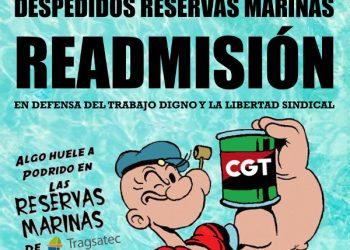 Concentración 13J: «¡Despedidos de Reservas Marinas readmisión! En defensa del trabajo digno y la libertad sindical»