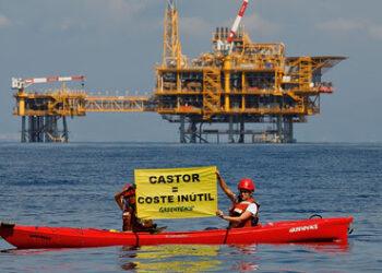 Greenpeace denuncia el alto coste del fallido proyecto Castor y pide procolocolos para evitar que vuelva a suceder