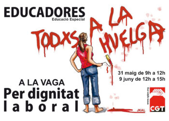 Vaga d'educadores a les escoles i instituts públics valencians