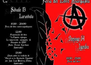 El 13 y 14 de mayo, XIII edición de la Feria del Libro Anarquista de Bilbao