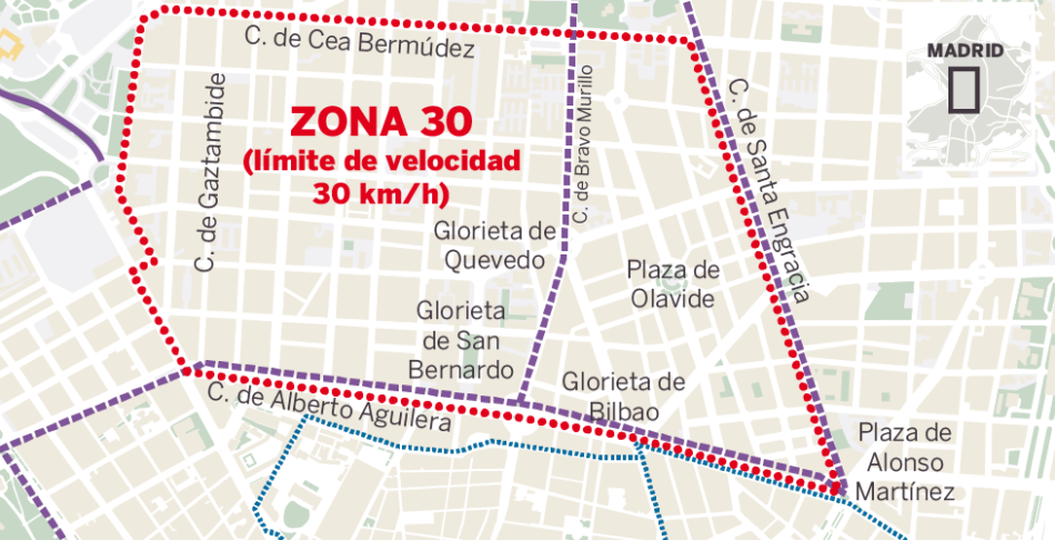 """La Asociación Vecinal El Organillo rechaza las actuaciones del proyecto """"Chamberí Zona 30"""""""