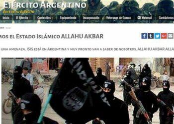 Argentina. Hackearon la web del Ejército Argentino y difundieron supuestas amenazas de ISIS