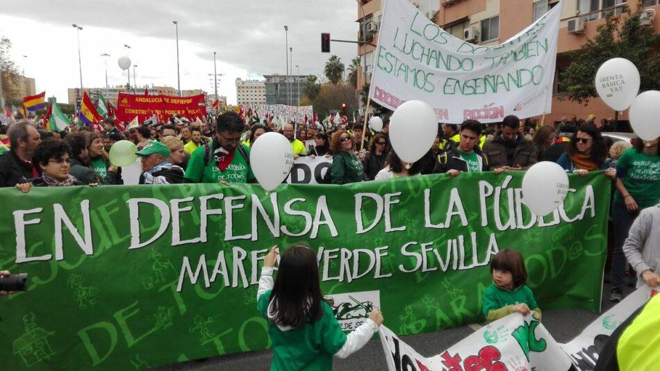 La Marea Verde de Sevilla contra las reválidas de la LOMCE