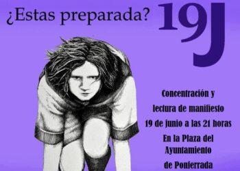 """El PCE apoya las acciones """"19-J Alerta Feminista"""" en El Bierzo"""