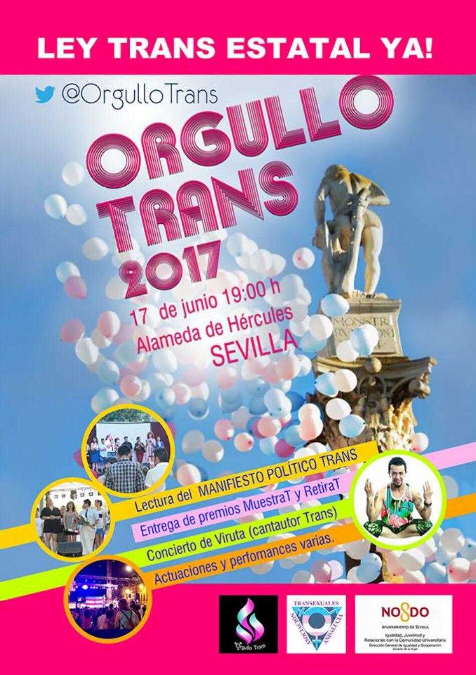 Orgullo Trans: «¡Ley Trans Estatal YA !»