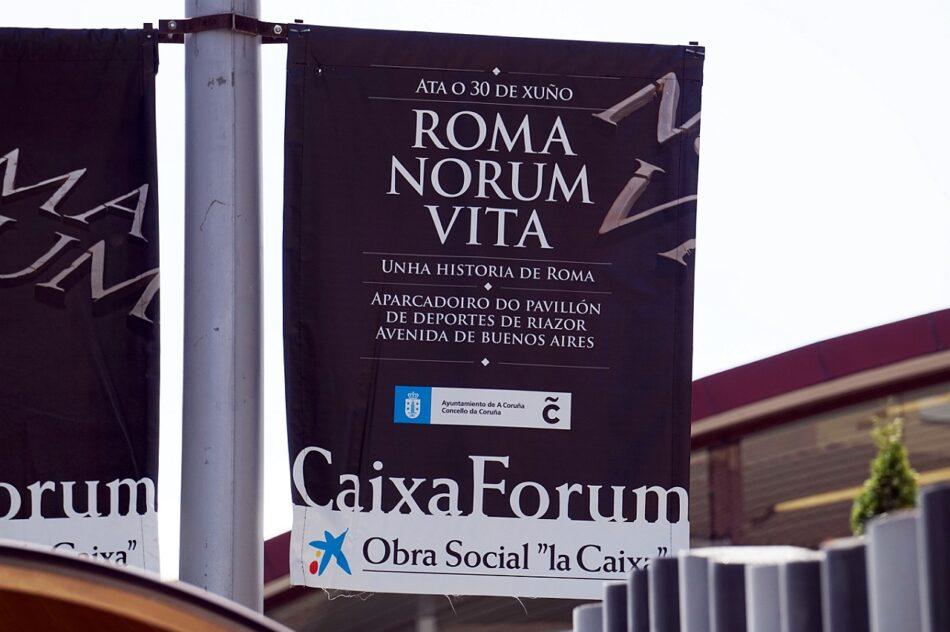 Críticas a la colaboración municipal con la exposición de La Caixa «Romanorum Vita» en A Coruña