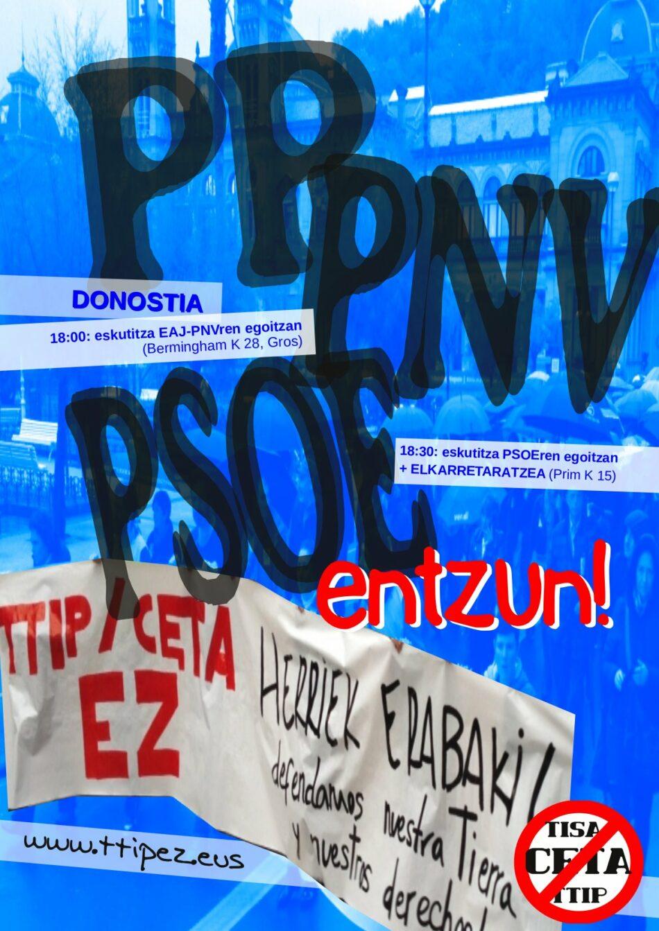 Diputatuen Kongresuan CETAren berrespenaren aurka bozkatzeko eskaera