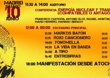 Gran manifestación hispano-lusa en Madrid para exigir el cierre nuclear