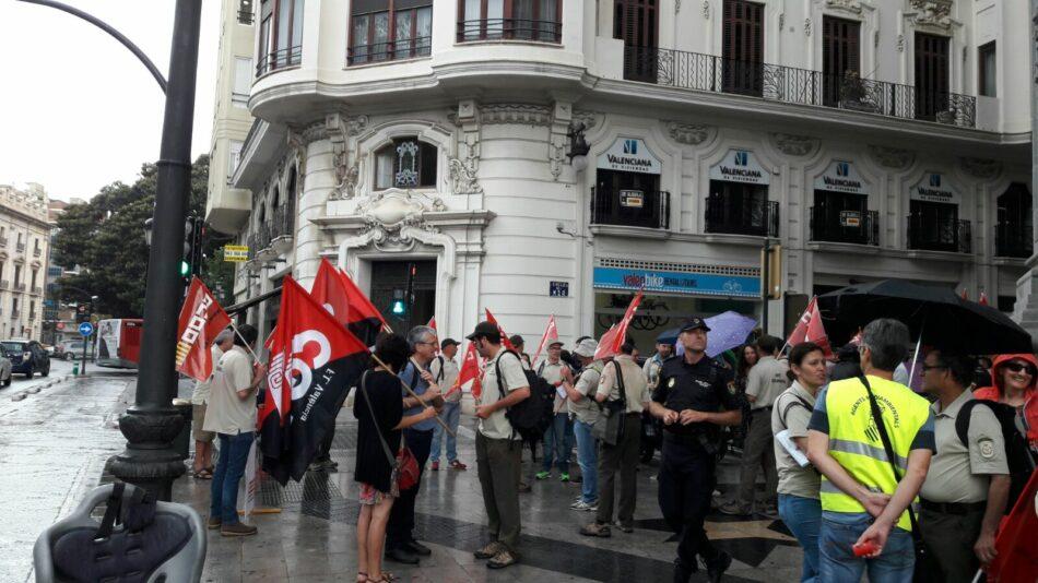 Els agents mediambientals de la Generalitat Valenciana protesten pels incompliments de PSOE i Compromís