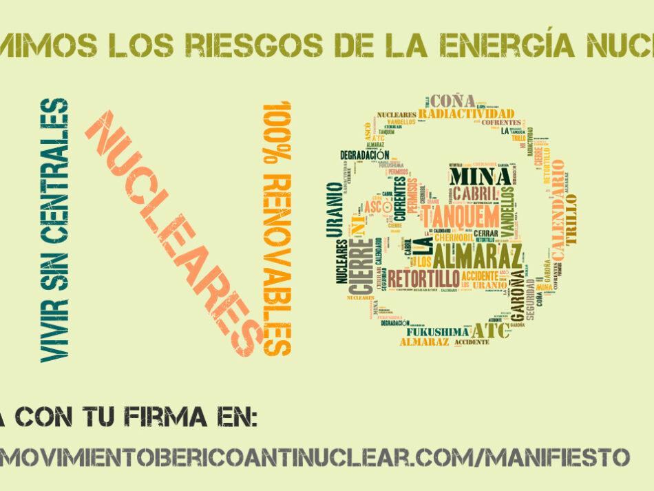 El Movimiento Ibérico Antinuclear presenta hoy más de mil apoyos hispano-lusos para pedir el cierre nuclear
