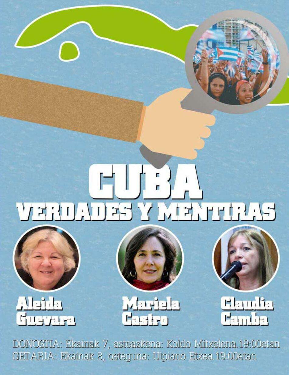 Mariela Castro eta Aleida Guevara: Donostian, Getarian eta Bilbon