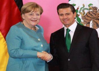 Merkel y Peña Nieto unen fuerzas por el libre comercio