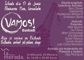 Rafa Mayoral y Juan Carlos Monedero asisten este sábado a una asamblea de Vamos! en Euskadi