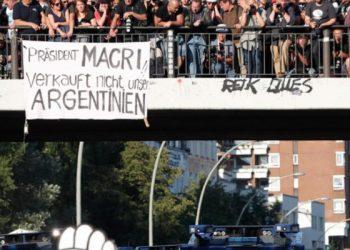 """Alemania. La bienvenida a Macri en Hamburgo: """"No venda nuestra Argentina"""""""