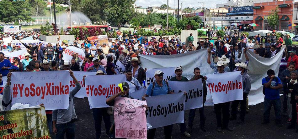 Guatemala. Pueblo Xinka exige cese de actividad minera. Masiva movilización en la capital