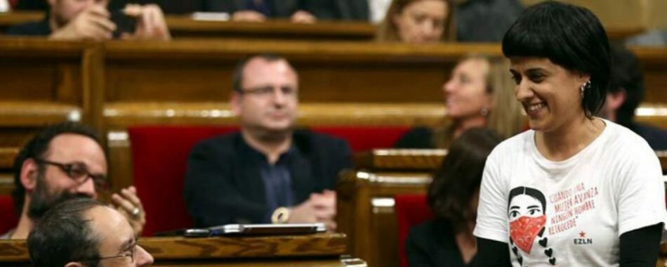 """Anna Gabriel (CUP): """"Nos sorprende que Ada Colau venga de la desobediencia y ahora su discurso sea el del orden"""""""