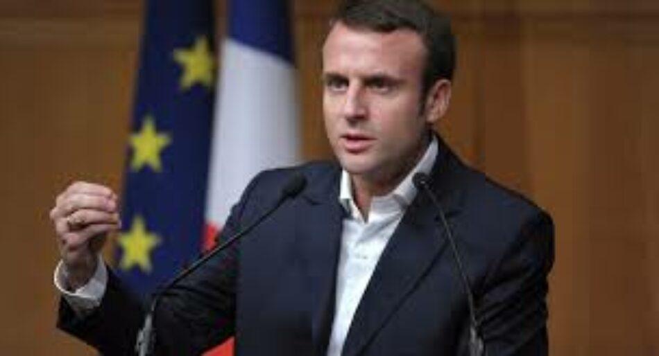 Macrón: «no hago de la salida del poder y destitución de Bashar al Assad una condición previa para la solución política en Siria»