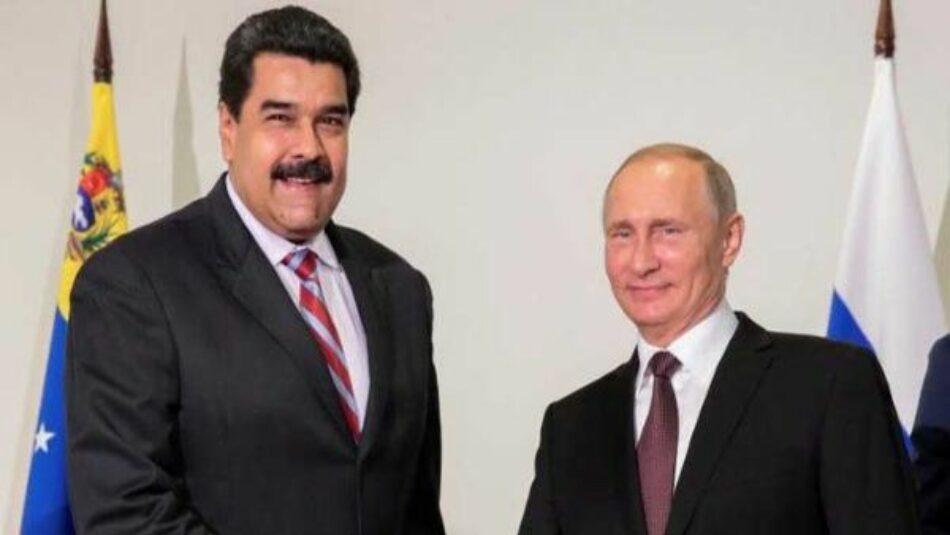Maduro y Putin dialogan sobre proyectos energéticos y la paz de Venezuela