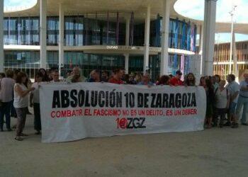 Absuelto el primero de «los 10 de Zaragoza»