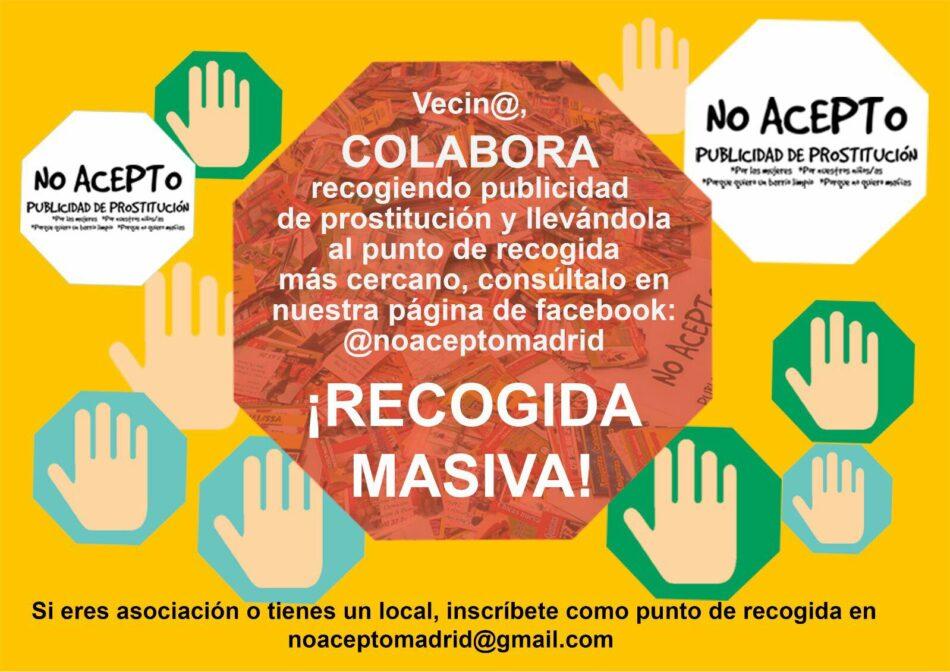 Alto y claro: ¡no acepto publicidad de prostitución en mi barrio!