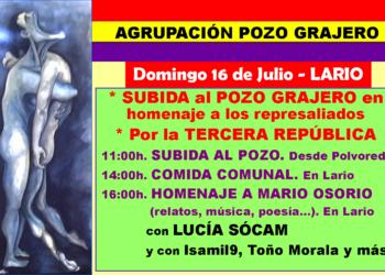 La Agrupación Pozo Grajero invita a las leonesas y los leoneses a subir el 16 de julio al grajero, en homenaje a las personas represaliadas por el franquismo