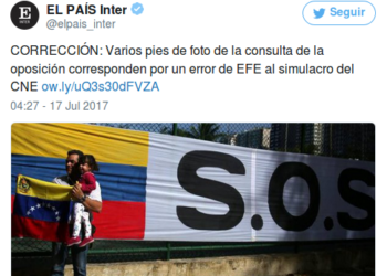 'El País' de España obligado a desmentir información sobre el plebiscito opositor de Venezuela