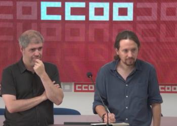 CCOO y Podemos se reúnen para analizar la actualidad política y económica (vídeo en directo)