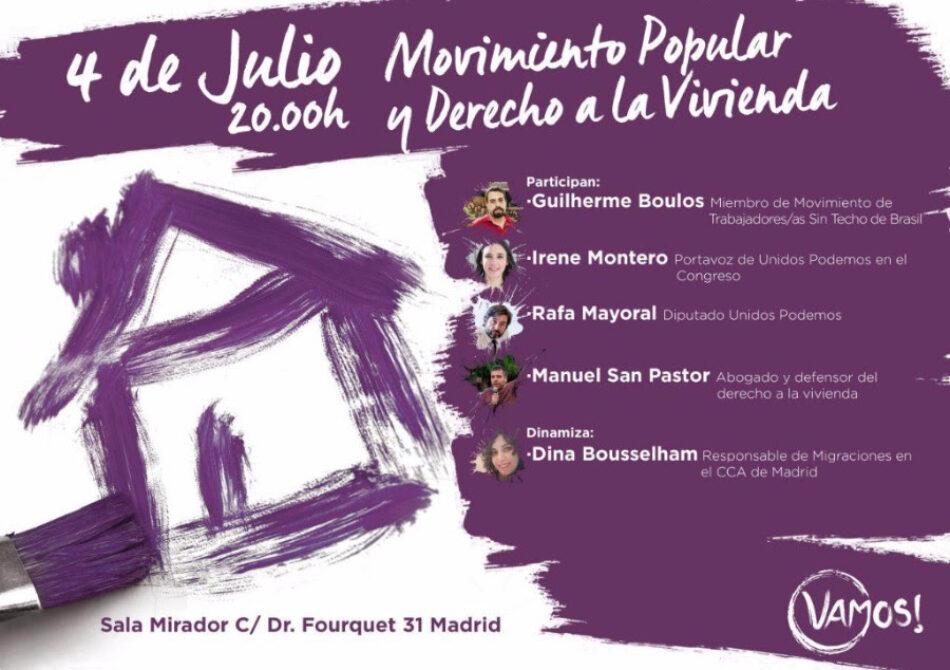 Acto: 'Movimiento Popular y Derecho a la Vivienda'