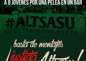 Concentración: «basta de montajes ¡Justicia para Altsasu!»